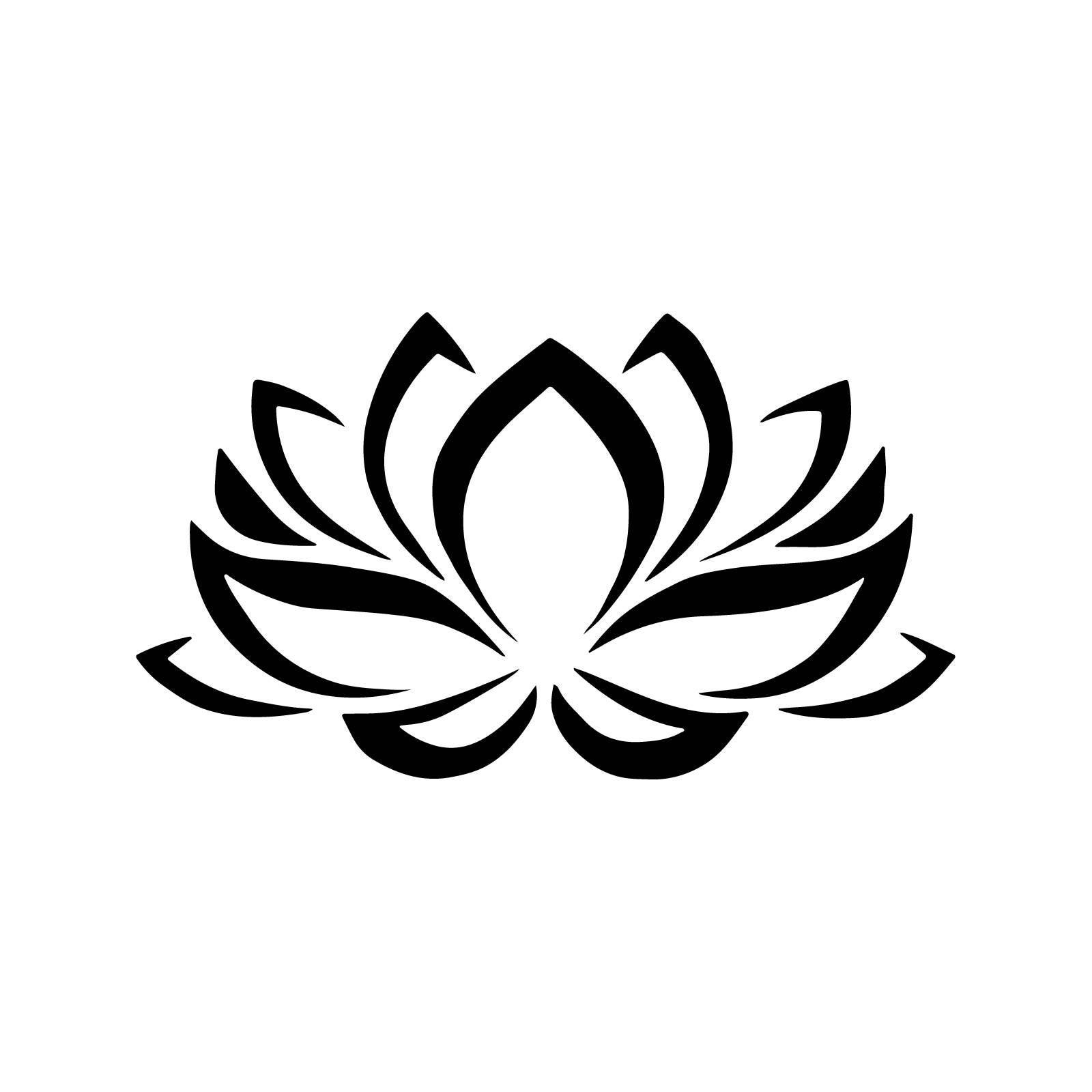 Stencil Floral Lotus Flower Stencil Decoration 5 Sizes Svg Pdf Etsy