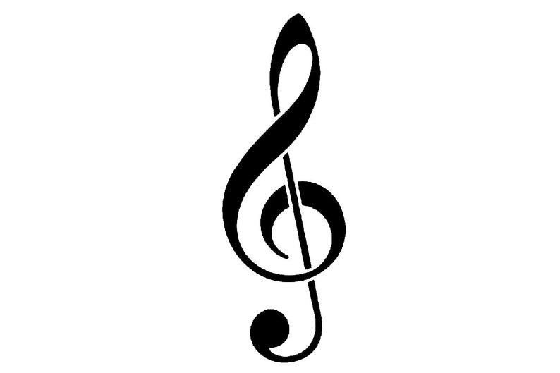 Stencil Chiave Di Violino Svg Png Pdf Dwg Dxf Download Etsy