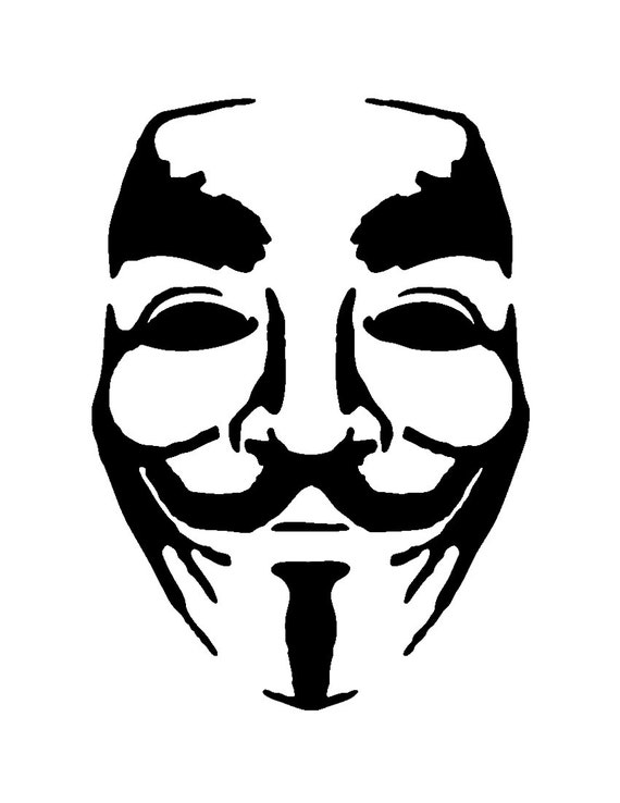 items similar to stencil art anonymous stencils svg png pdf dwg dxf