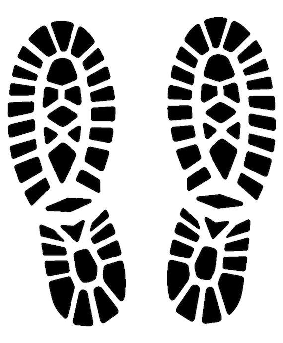 official photos 21aa8 a8e62 Impronte scarpe stencil 5 formati stencils svg dwg dxf png pdf Silhouette  macchina da taglio