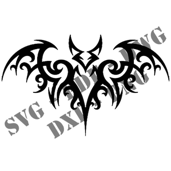 Tribal Stencils For Bat Tattoo Fundraising 5 Formats Svg
