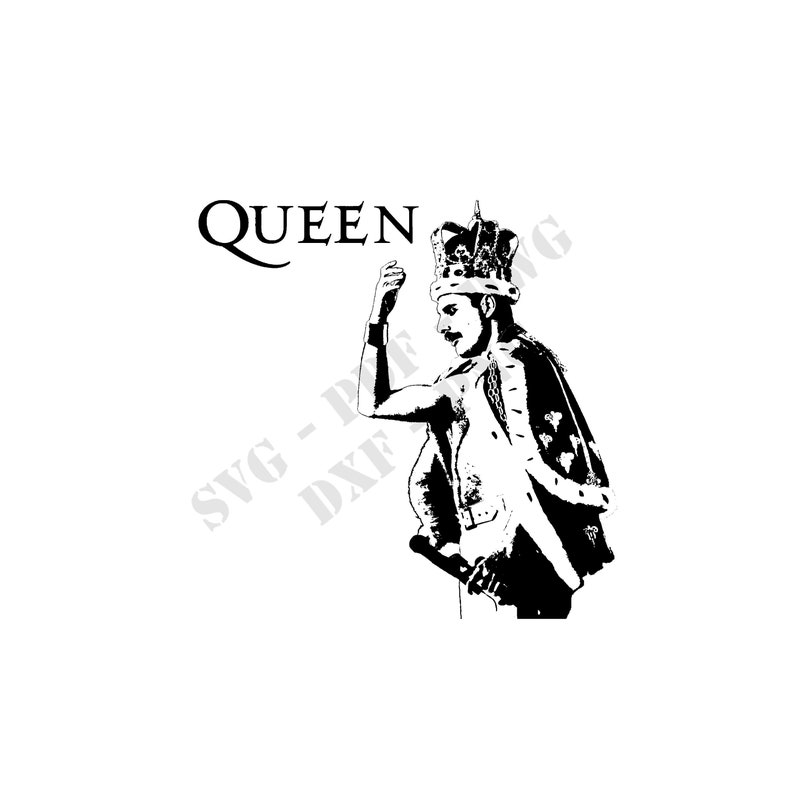 Stencils Freddie Mercury QUEEN rock singer Svg Eps Dwg Dxf Png Pdf download  stencils cutting file for cutting plotter