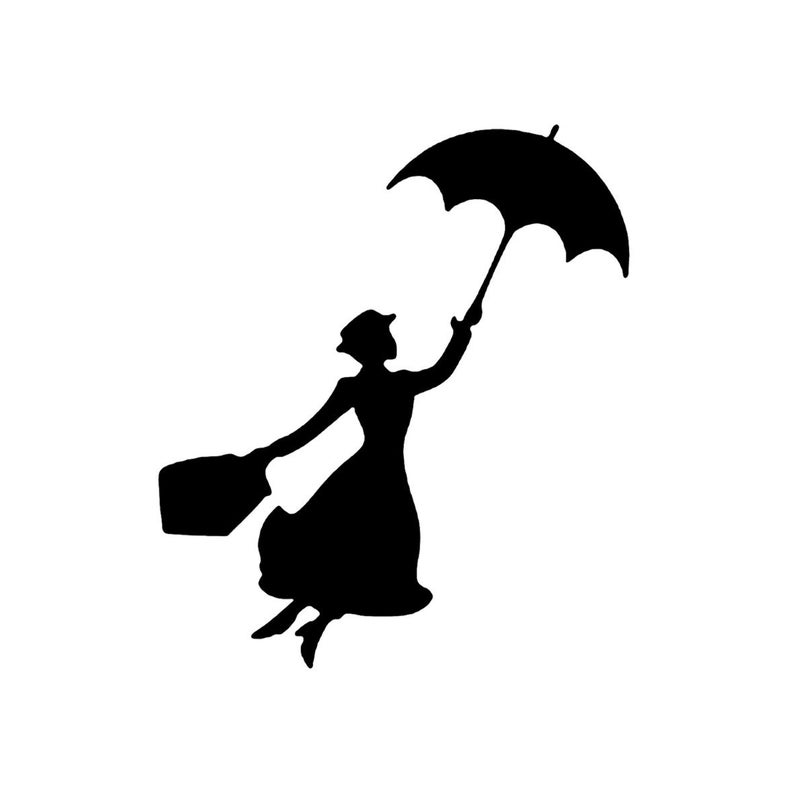 Disney Mary Poppins volo stencil profilo 5 formati stencils  da6038b9daf3