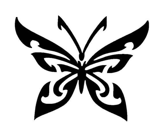 Farfalla Disegno Tattoo Tatuaggio Mascherine Stencil Per Etsy