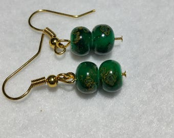 Emeral Green Earrings