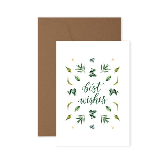 Best wishes greeting card etsy m4hsunfo