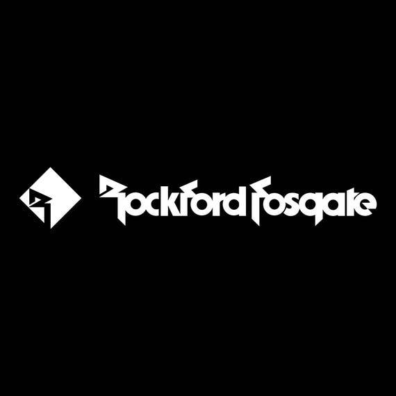 Rockford fosgate audio vinyl decal sticker car audio
