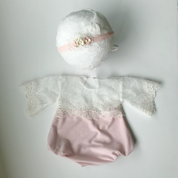 Charlotte Newborn Romper and Tieback