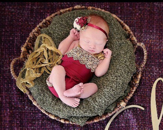 Scarlett Newborn Romper and Headband