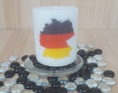 Map of Germany Scented Candle Pillar Candle Perfect Gift Home Decor