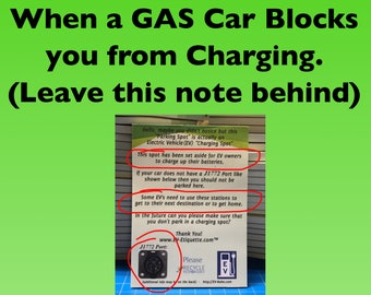 EV Etiquette Notepads - 50 Uses each EV Charger Blocking Notices Electric Vehicle Charging EVetiquette WindshieldNotes ICEHOLE Blocked
