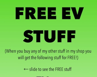 FREE Stuff - If you purchase any item that is 5.95 or higher, you'll get the following for FREE - Tesla ElectricCars EV Etiquette Model 3