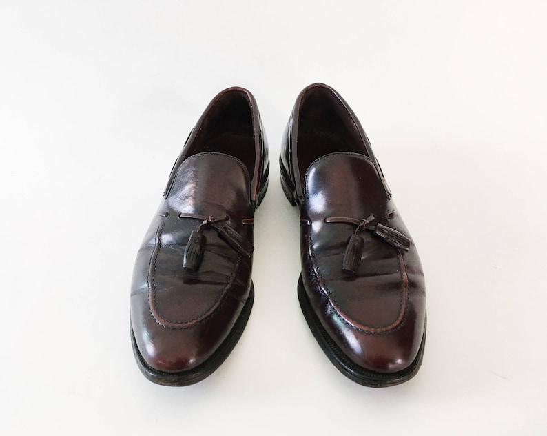 50000dd09f370 Samuel Slip-ons - Vintage Mens 80s Burgundy Leather Loafers - Shoes