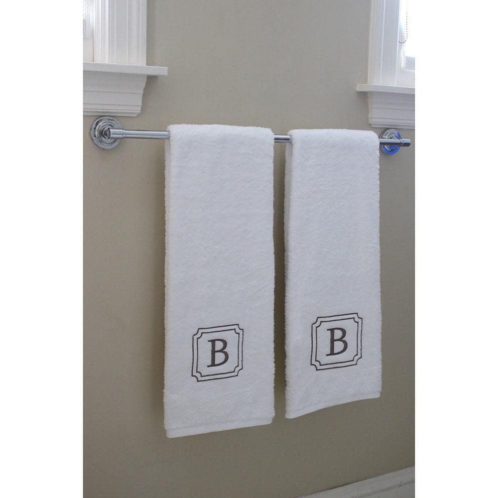 Bath Towel Set Monogrammed Towels 100 % USA Grown 2 Piece
