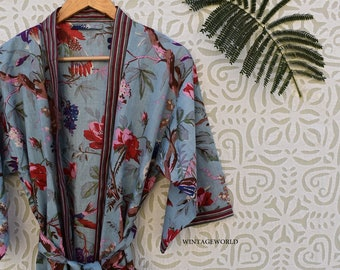 personalized long short unisex kimono robes cotton summer women nightgown jacket floral bridesmaid gifts wedding gifts dungarees lace boho