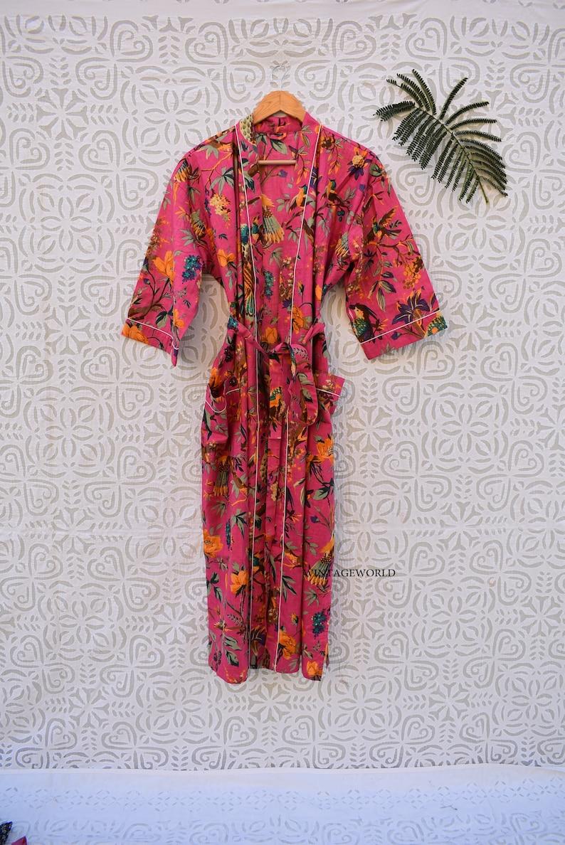 Black patchwork womens boho cotton long short vintage kimono robe dress jacket bridesmaid bridal party floral pattern indian kimono bohemian