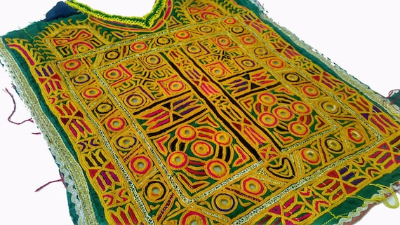 Mirror embroidery banjara Vintage Banjara yoke,Mir