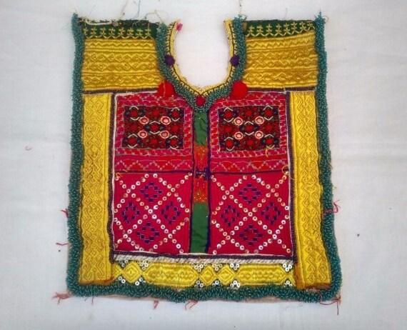 Afghani neck yoke, Ethnic Traditional Banjara Fabr
