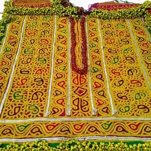2 pcs Set Ethnic Banjara  Beads yoke By beautiful crafted with hand embroidery beaded work,Banjara fabric,vintage fabric,beads