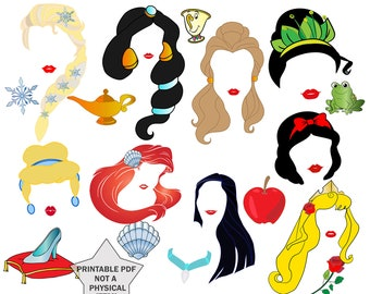 graphic relating to Disney Princess Photo Booth Props Free Printable referred to as Princess image prop Etsy