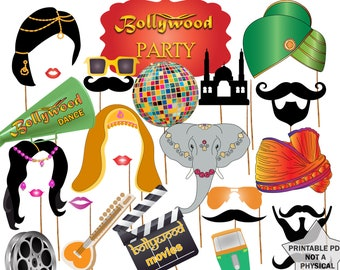 bollywood party photo booth props bollywood wedding india photo booth props printable party props bollywood movies bollywood props