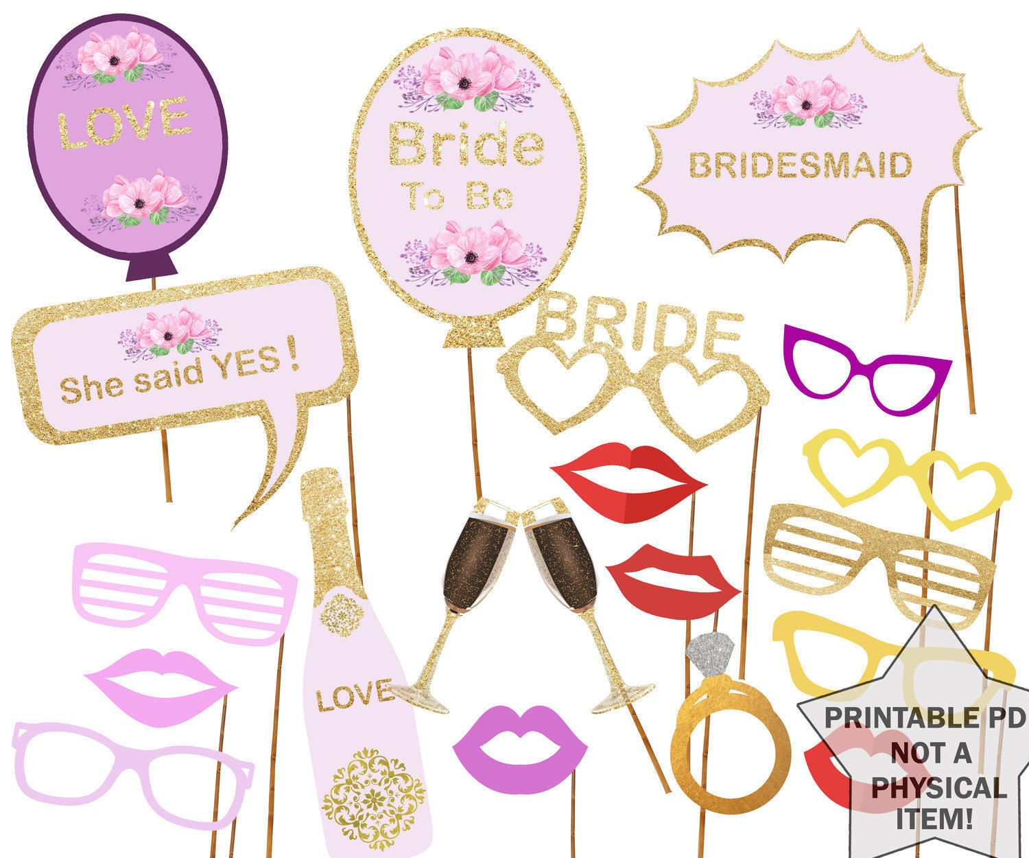 photo about Free Printable Bridal Shower Photo Booth Props identify Printable Bridal Shower Image Booth Props Bride Photobooth Props Bachelorette Printable Props Bachelorette Celebration Bride In the direction of Be