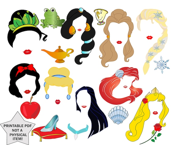 once upon a time 10pc photobooth props Princess props