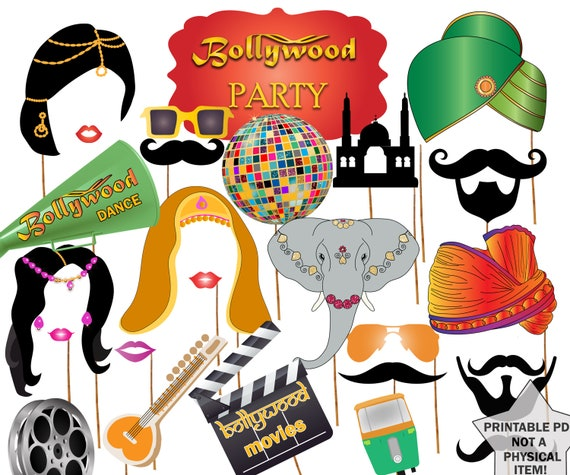 Bollywood Party Photo booth Props: