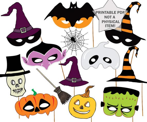 graphic relating to Halloween Photo Booth Props Printable named Halloween celebration Photograph booth Props: \