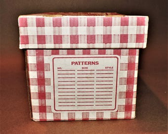 Vintage Sewing Pattern Storage Box