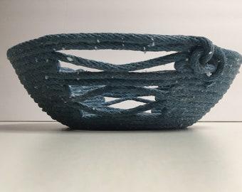 Denim Blue 1/4 inch Cotton Bowl