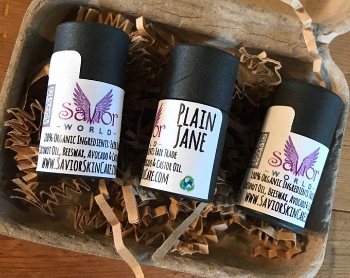 Set of 3 Plain Jane Lip Balms