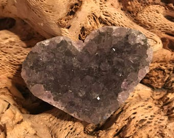 Amethyst Hearts Natural Minerals & Gem