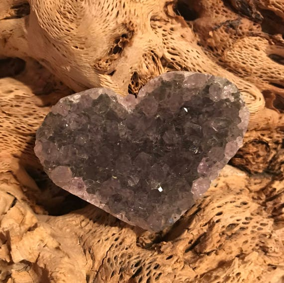 Amethyst Hearts Natural Minerals & Gem