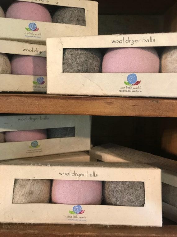 Fair Trade Handmade Wool Dryer Balls