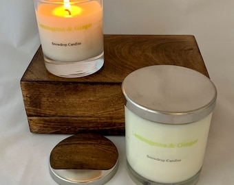 Lemongrass and Ginger - soy wax candle