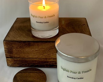 English Pear and Freesia - soy wax candle