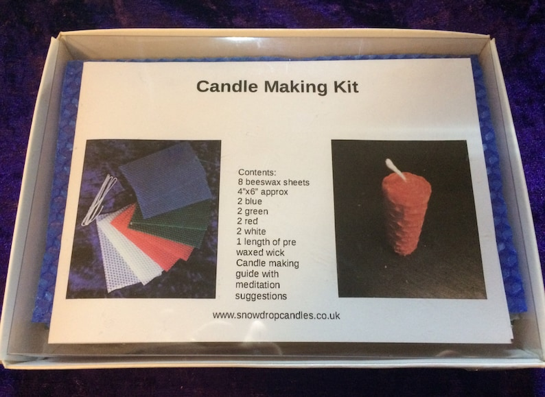 Candle Making Kit Beeswax candle making kit.  Meditation image 0