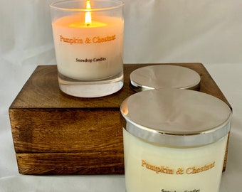Pumpkin and Chestnut - soy wax candle
