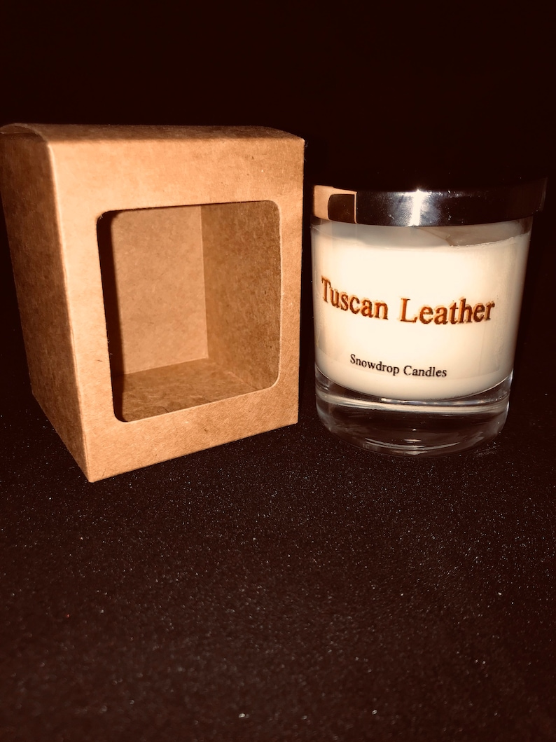 Soy container candle Tuscan Leather image 0