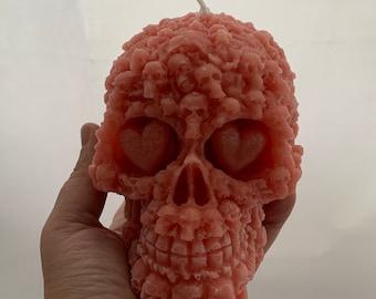 Large skull candle