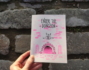 ENTER THE DUNGEON - Riso-Printed 16 page Art Zine A5