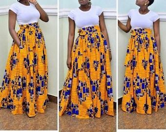 Peju Ankara maxi // African skirts / African skirts for women / African print skirt / Skirts for women / long skirts for women