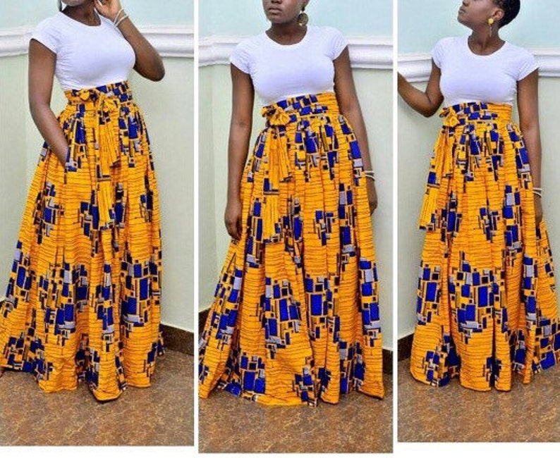 9b8fb0d14 Peju Ankara maxi // African skirts / African skirts for women | Etsy