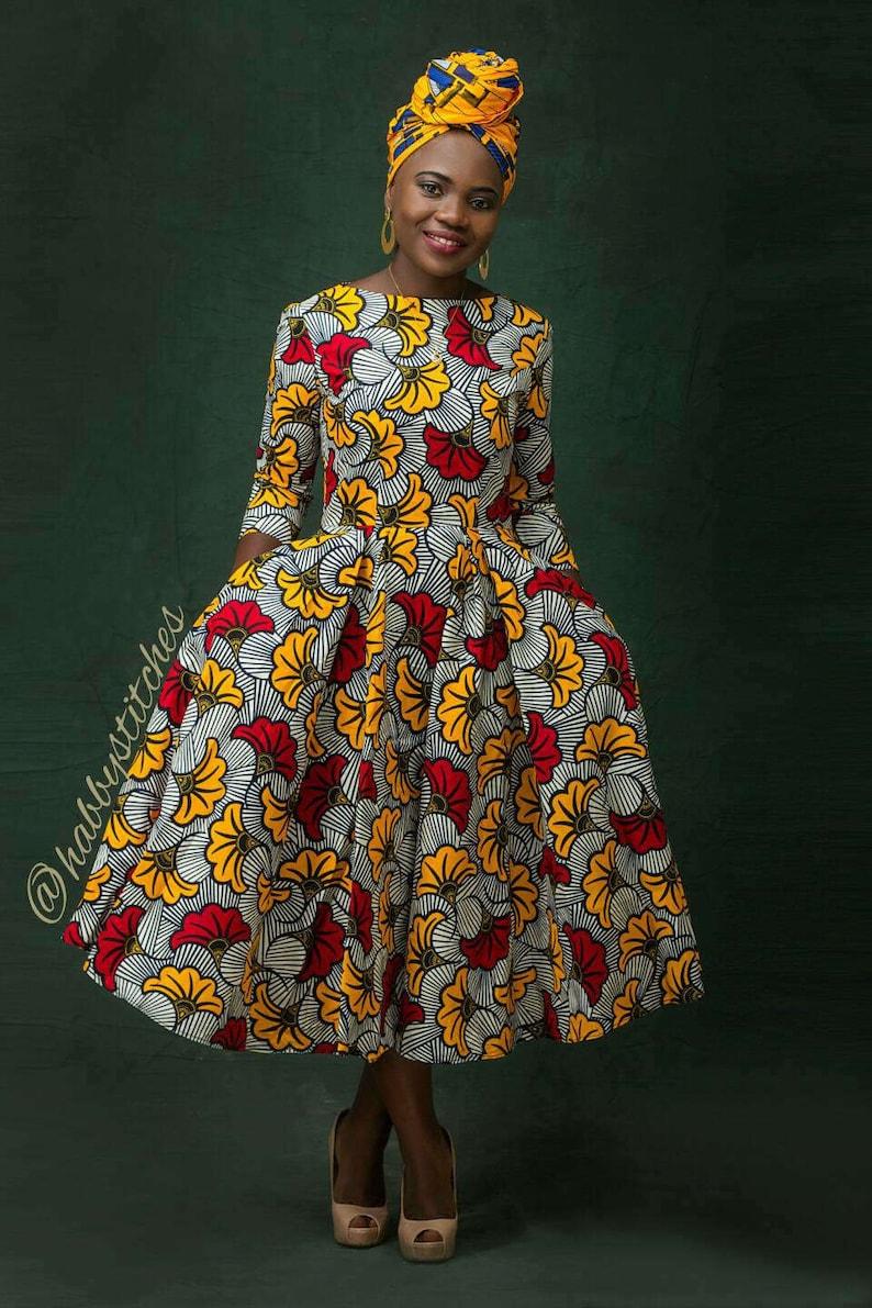 Dupe African skater dress// African dress / African print ...