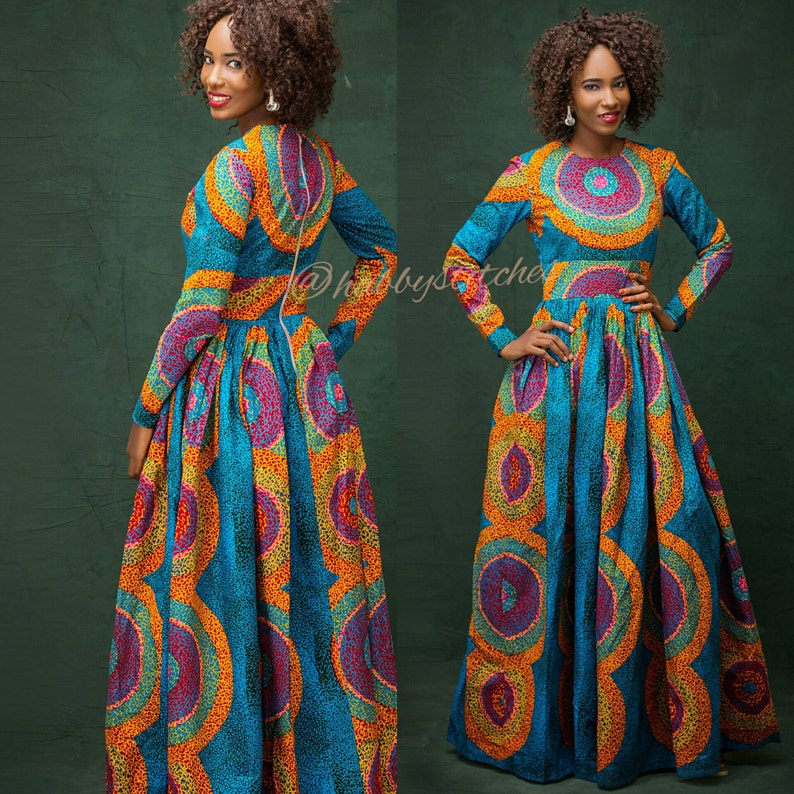 maxi jurk met zakken