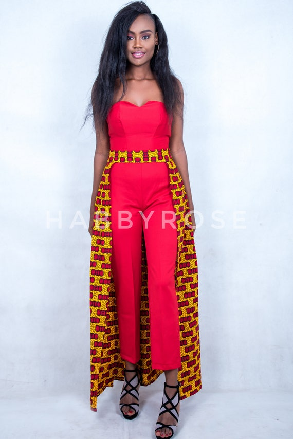 73ff7299f027 Helen African Jumpsuit with detachable skirt    African