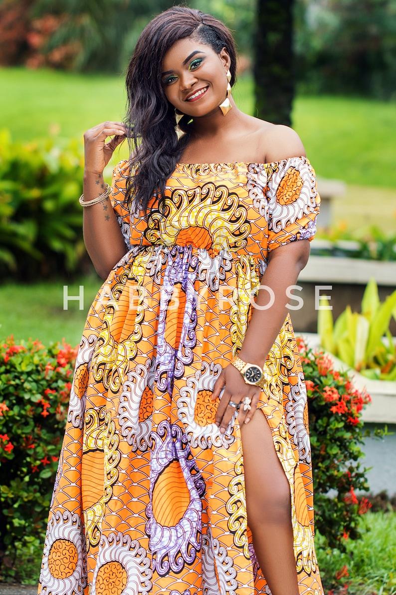 061440119e4a Fola off shoulder maxi dress African dress Long African