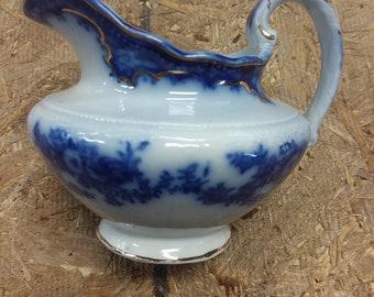 Vintage W H Grindley Flow Blue Creamer
