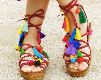 Greek plataform sandals  Espadrilles Alpargatas made in Spain